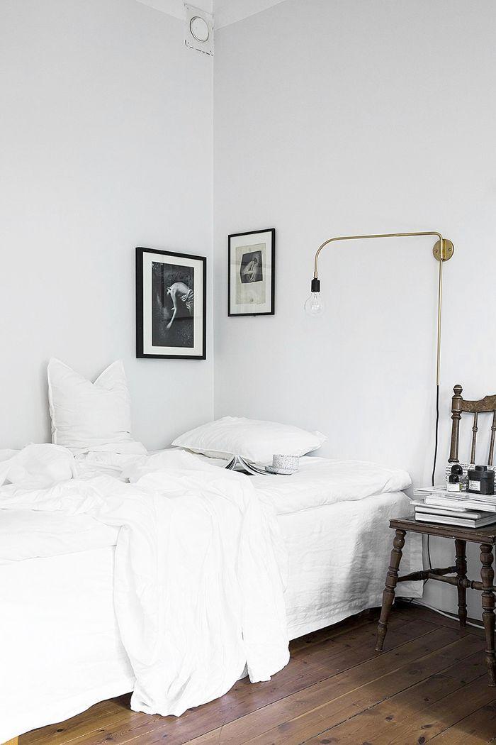 Small-Space Scandinavian Design—White Bedroom