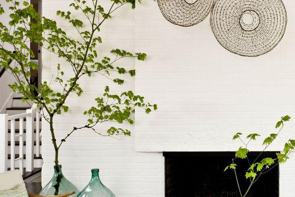 earthy toned living room