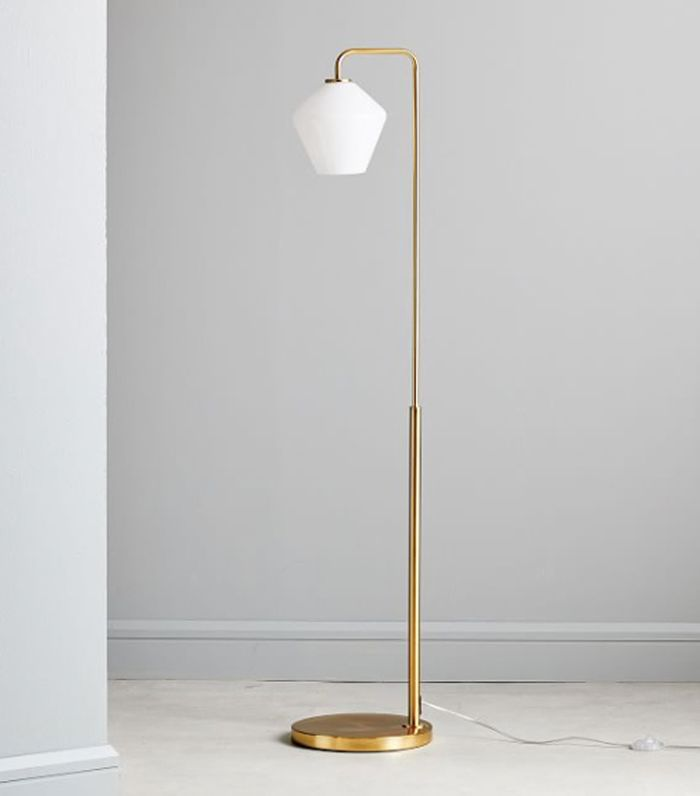 West Elm Sculptural Glass Geo Floor Lamp