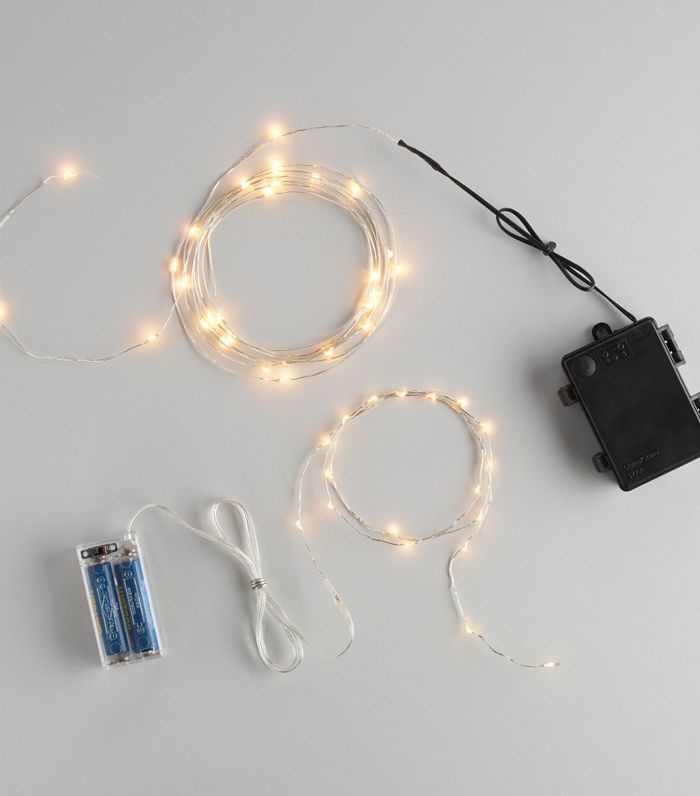 White Micro LED Battery Operated String Lights - 18-Bulbstring by World Market 18-Bulbstring