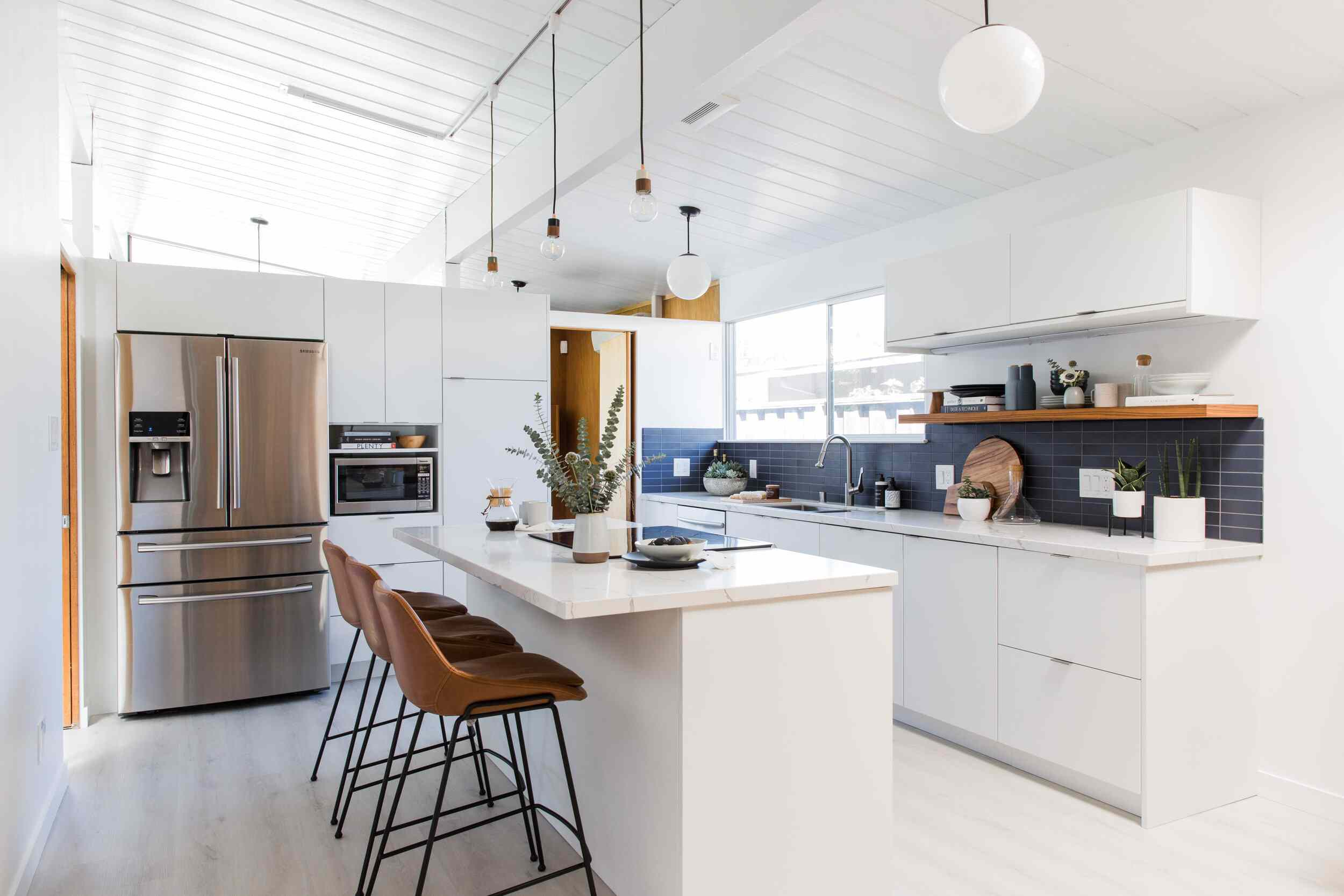 luxury vinyl plank in kitchen
