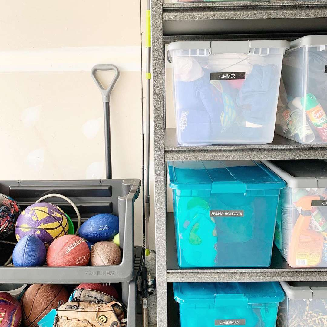 Garage with ball storage