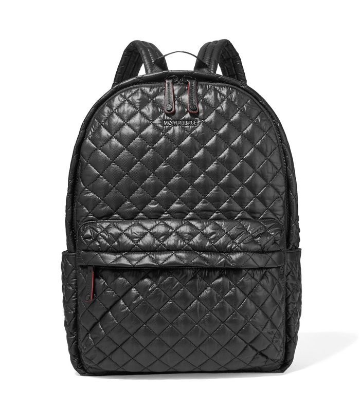 Metro Leather-trimmed Quilted Shell Backpack