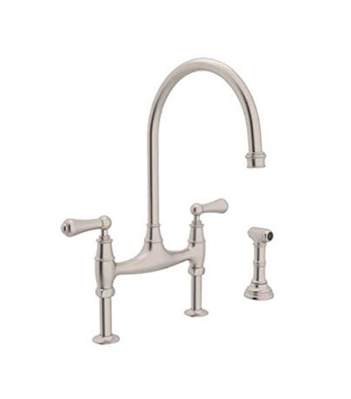 Perrin and Rowe Deck Mount Bridge Kitchen Faucet