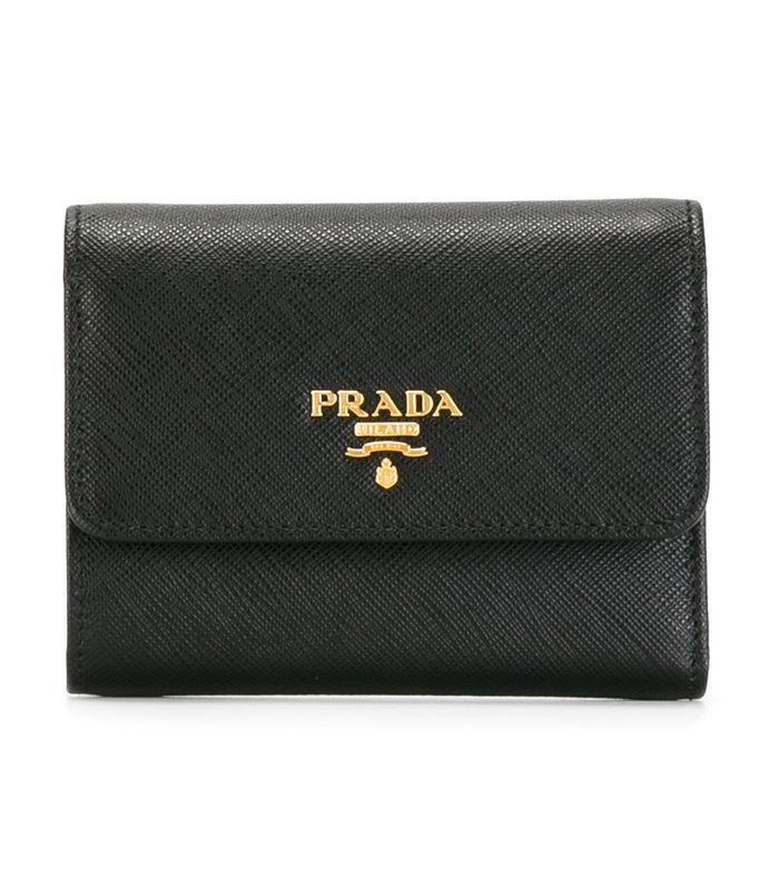 Saffiano tri-fold wallet
