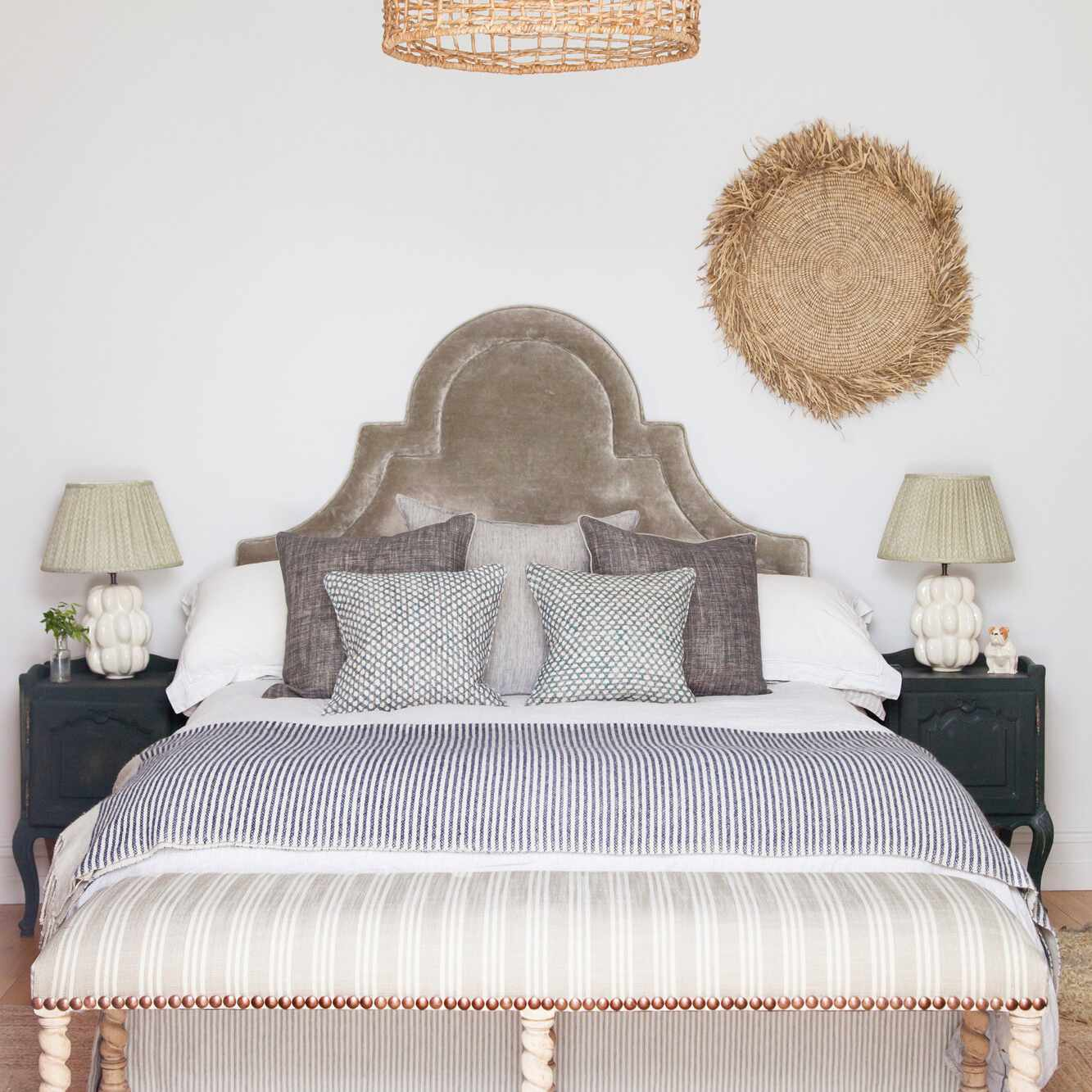 A bohemian bedroom with some Victorian accents
