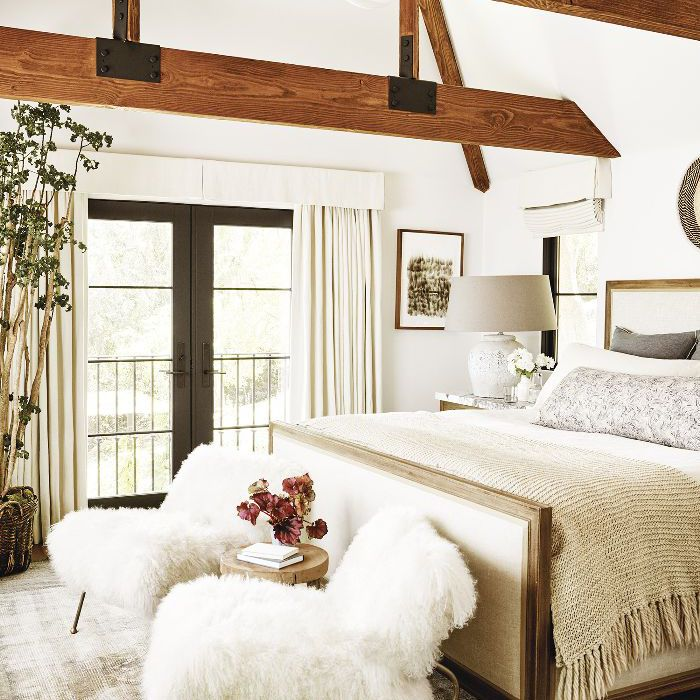 an all-white bedroom