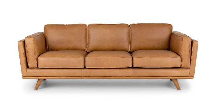 Article Timber Charme Tan Midcentury Modern Sofa—Midcentury Modern Living Rooms
