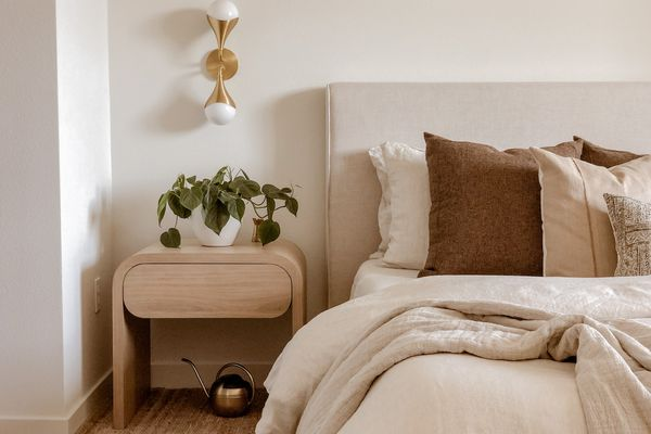 editors favorite products november - neutral bedroom with cozy accents