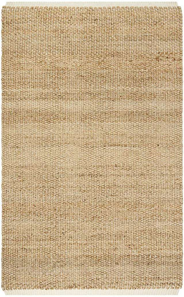 Hand Woven Ivory and Natural Jute Area Rug