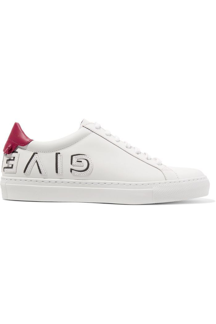 Urban Logo-appliquéd Leather Sneakers