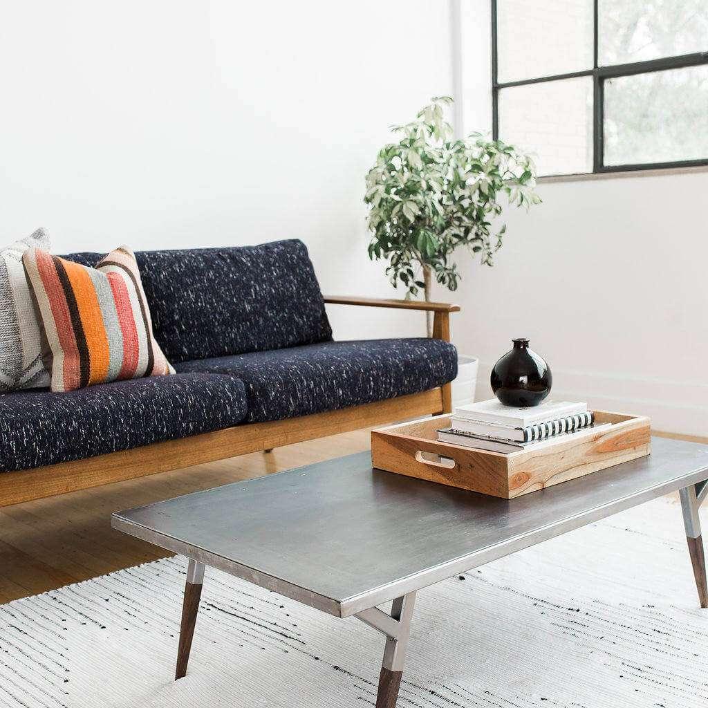 Industrial metal midcentury modern coffee table