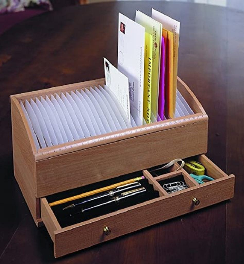 Etna Products Natual Wood Bill Organizer