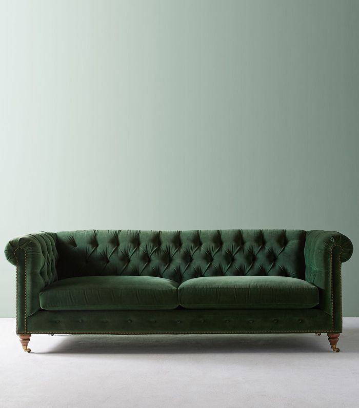 Anthropologie Lyre Chesterfield Two-Cushion Sofa