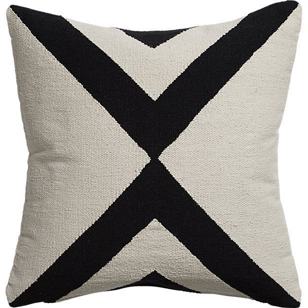 CB2 23-Inch X-Base Pillow—Midcentury Modern Living Rooms