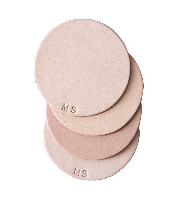 Food52 Monogram Leather Coasters