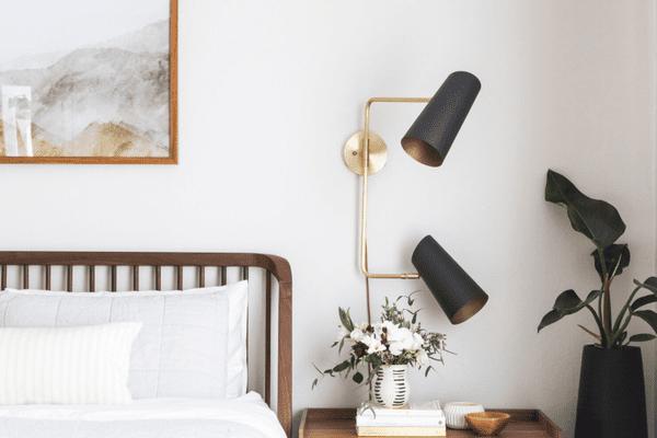 clean mattress and bedding