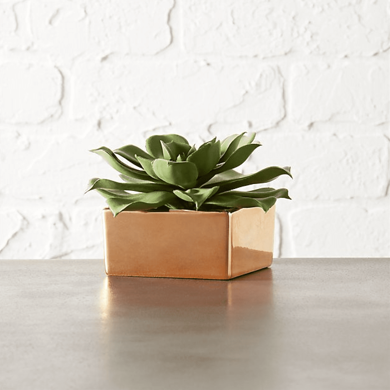 faux succulent copper box