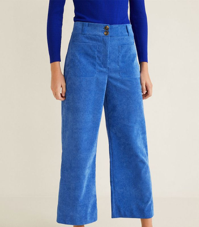 Mango Micro Corduroy Straight Trousers