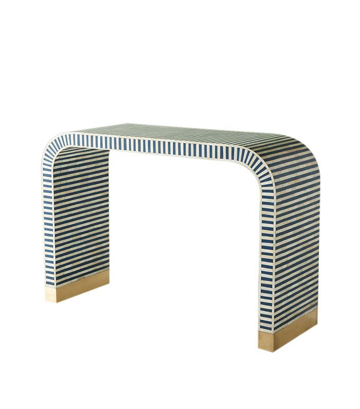 Waterfall Inlay Console Table