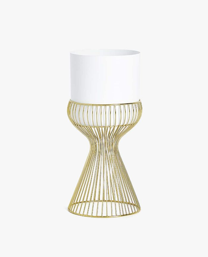 Zara Home Flowerpot With Gold Wire Stand