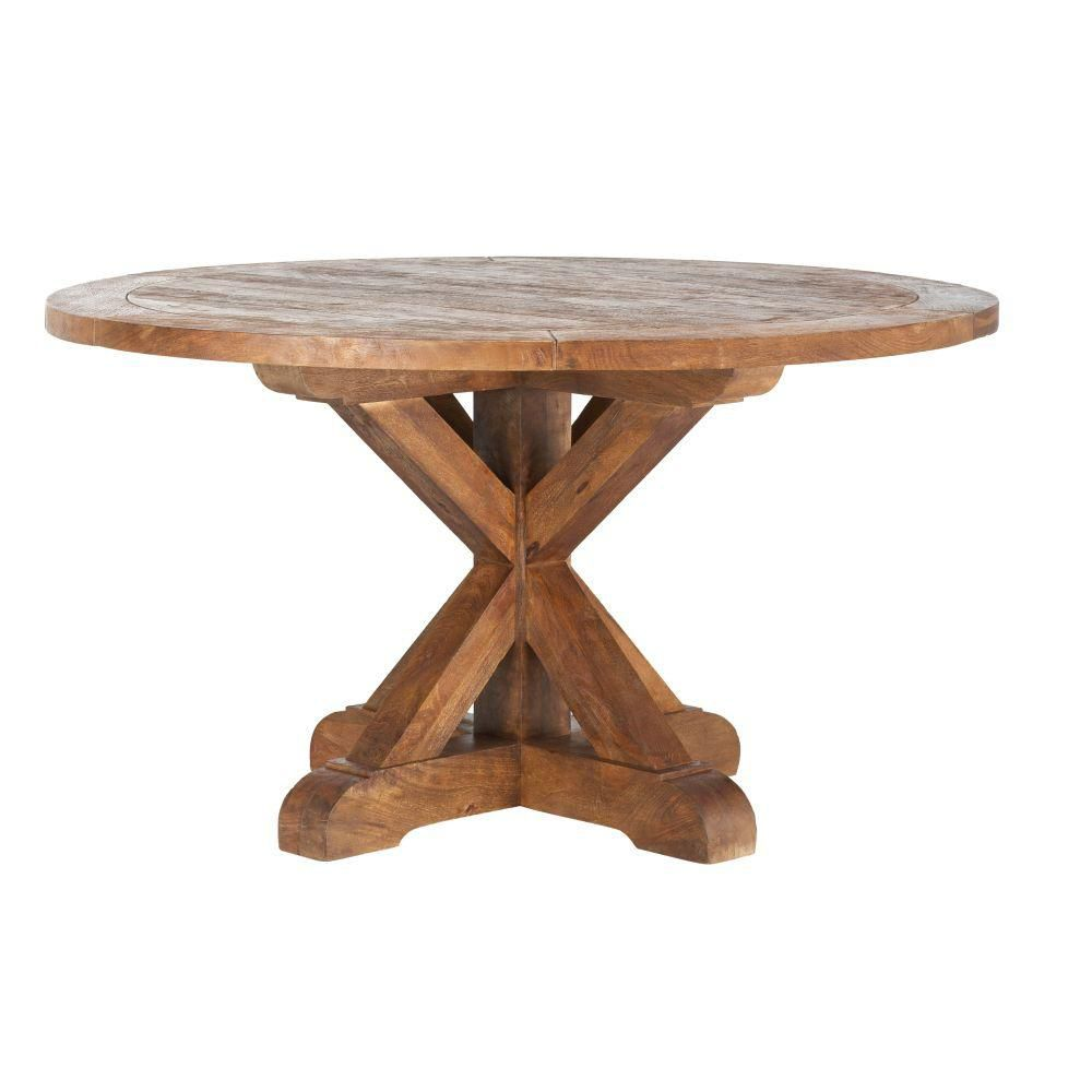 Cane Bark Round Dining Table—Home Depot Spring Sale