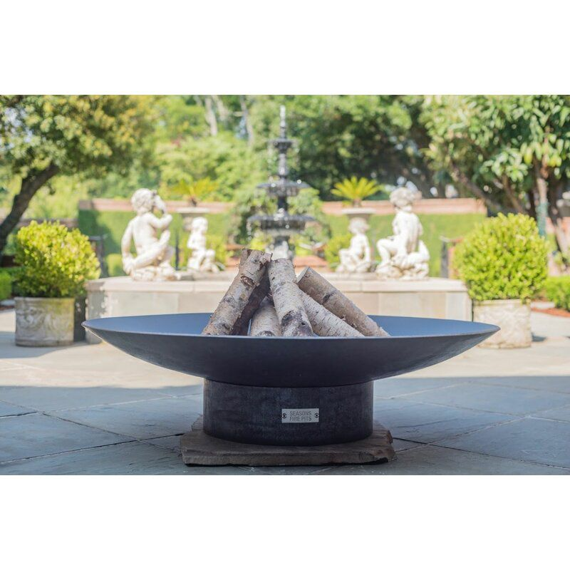 Hartlepool Concave Steel Wood Burning Fire Pit