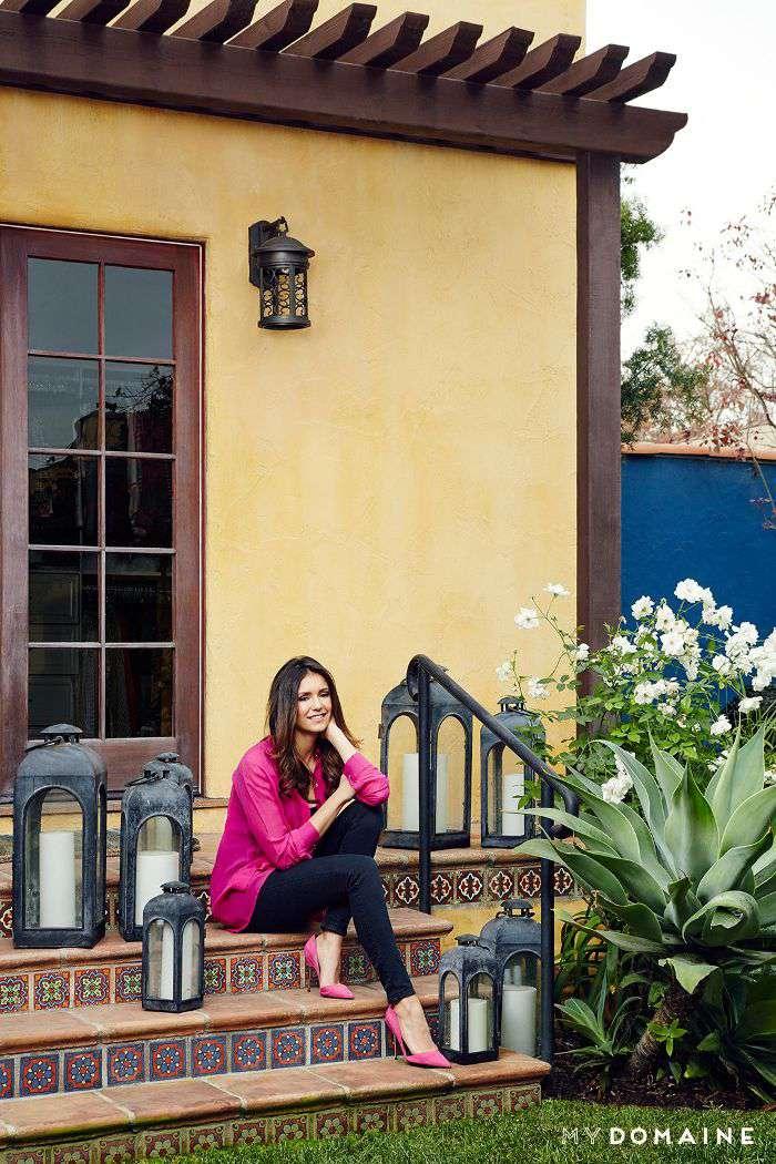 Nina Dobrev L.A. home tour   backyard
