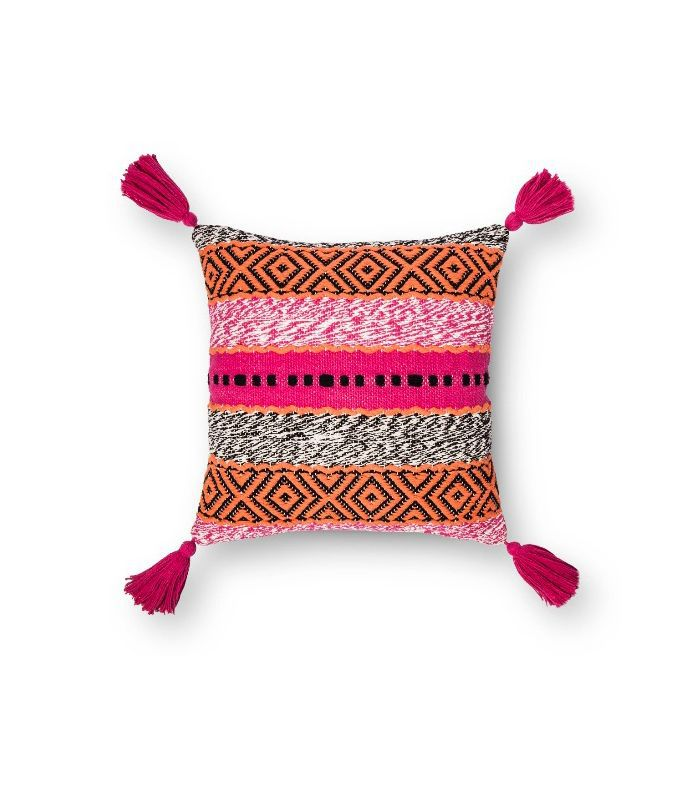 Target Pink Stripe Throw Pillow