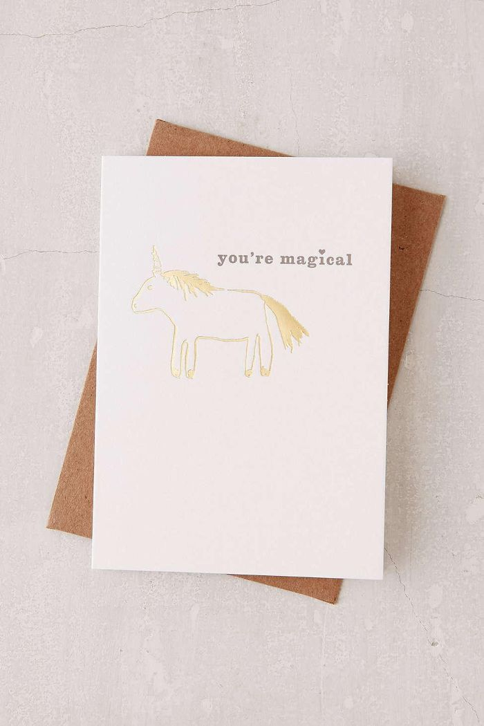 You're Magical Foil Card How to Practice Gratitude