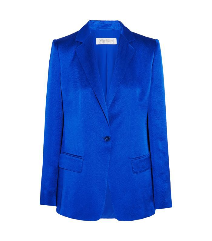 Hammered Silk-satin Blazer