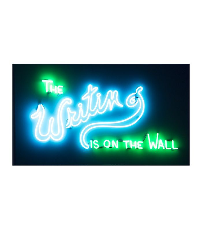 Pat Weber The Writing Is on the Wall Neon