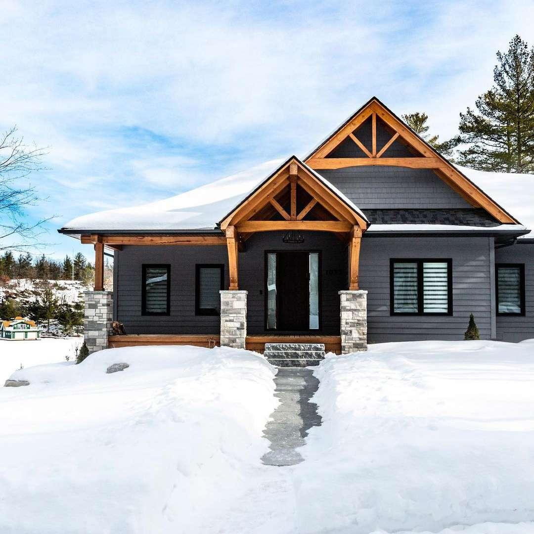 Gray craftsman type home