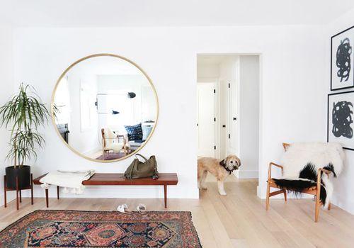 El espejo redondo de latón más barato