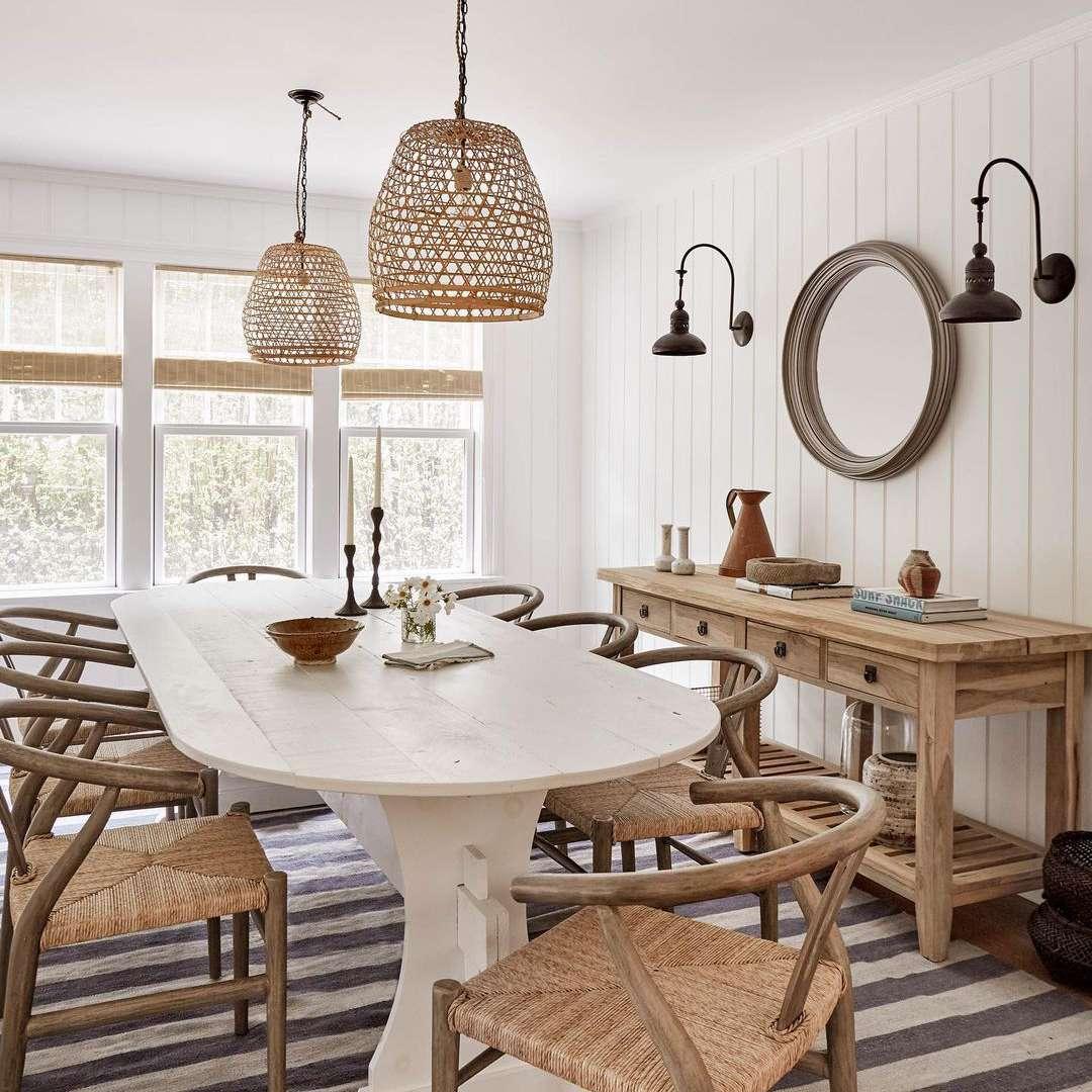 Nautical boho dining room