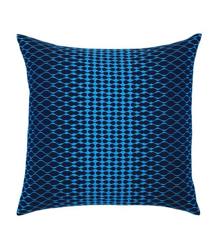 Elaine Smith Optic Azure Indoor/Outdoor Accent Pillow