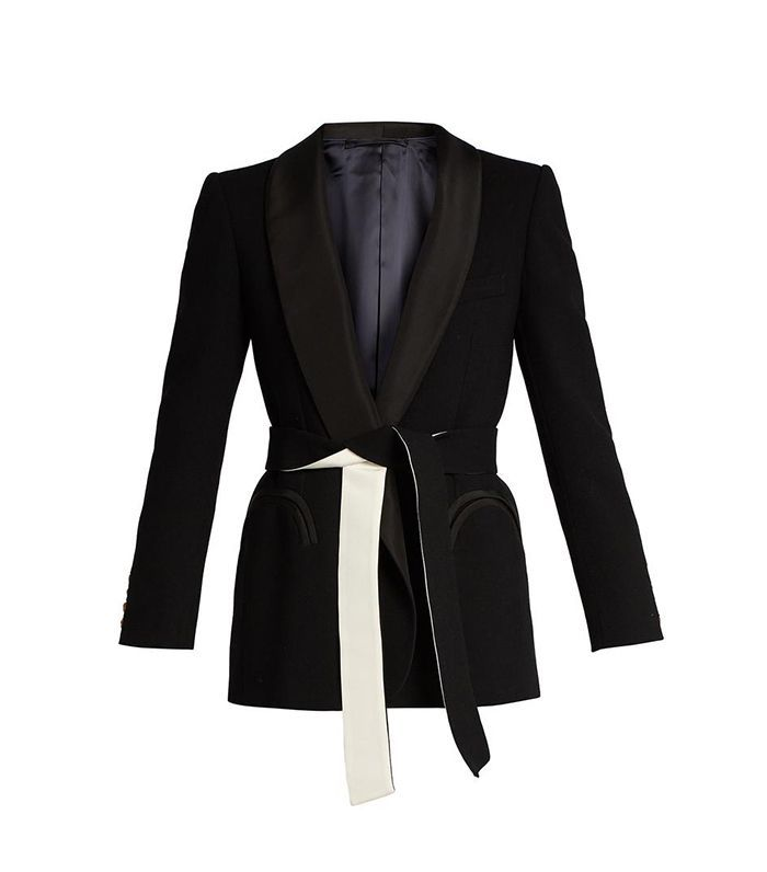 Midnight Smoking Cool and Easy wool blazer