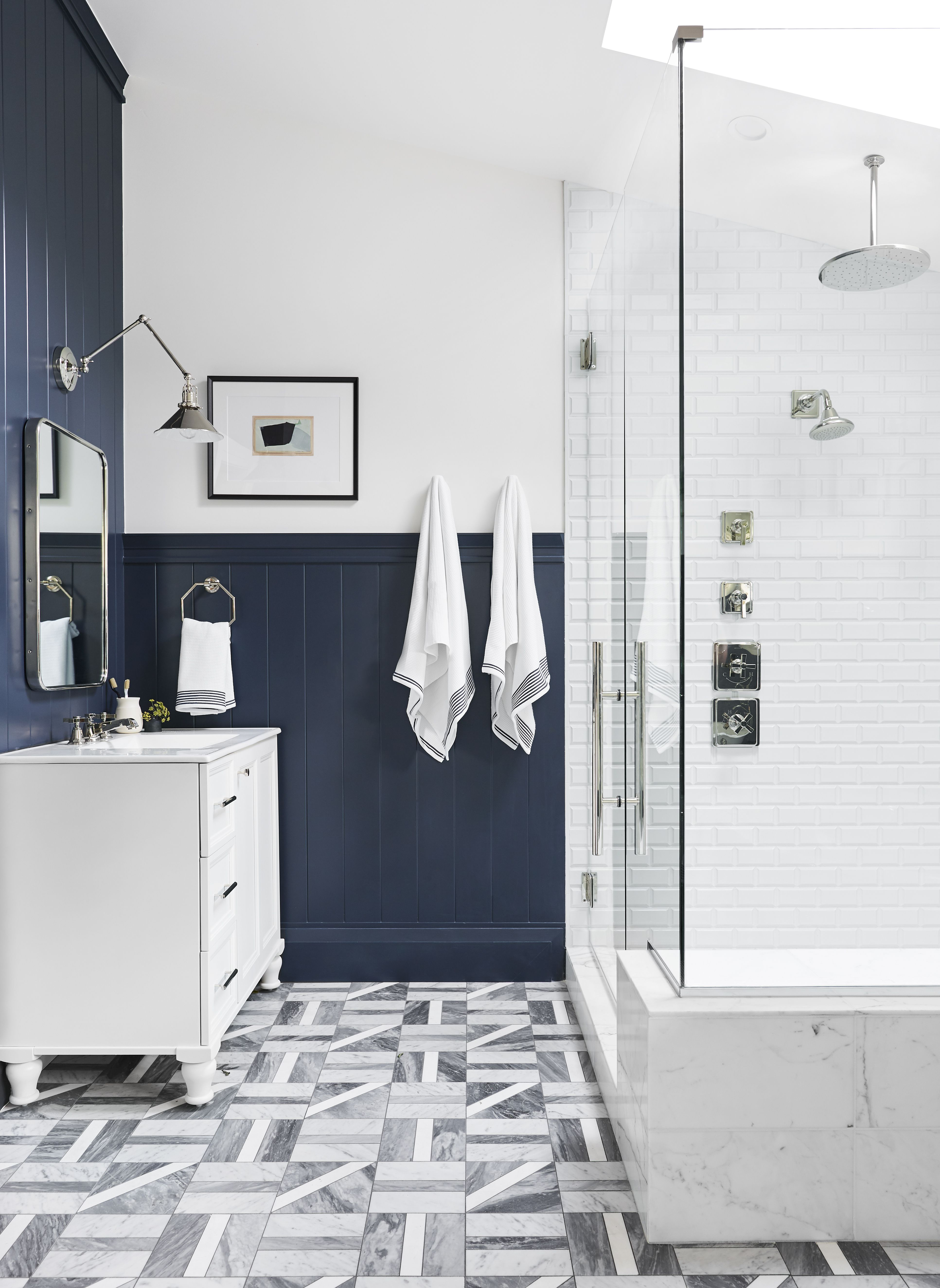 13 Bathroom Floor Tile Ideas to Give This Small Space Some ...