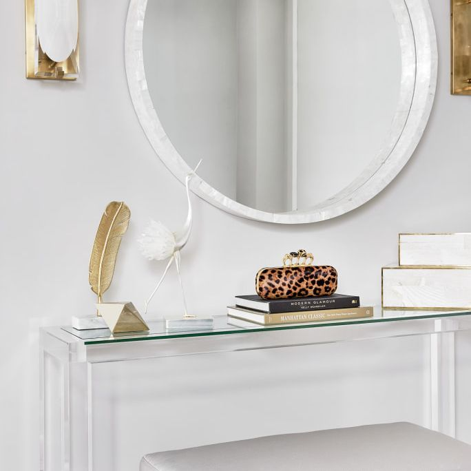 Entryway table made of lucite