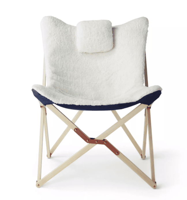 Sherpa Butterfly Chair with Headrest