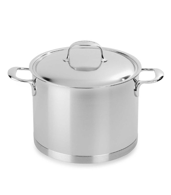 Demeyere Atlantis 8.5-Quart Stock Pot with Lid in Stainless Steel