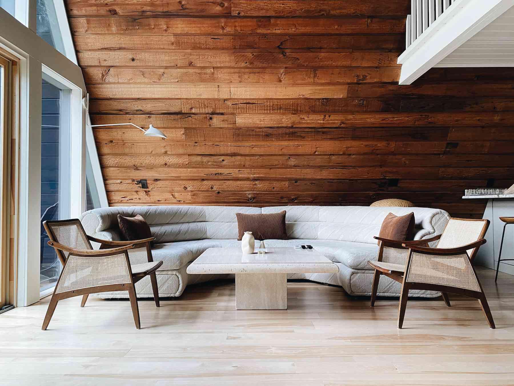 Lilla Norr neutral cabin bedroom.