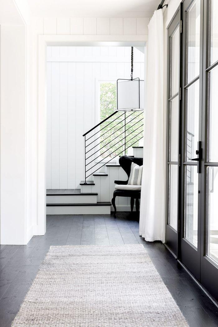 a minimalist entryway