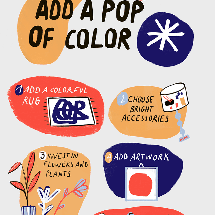 how to add a pop of color