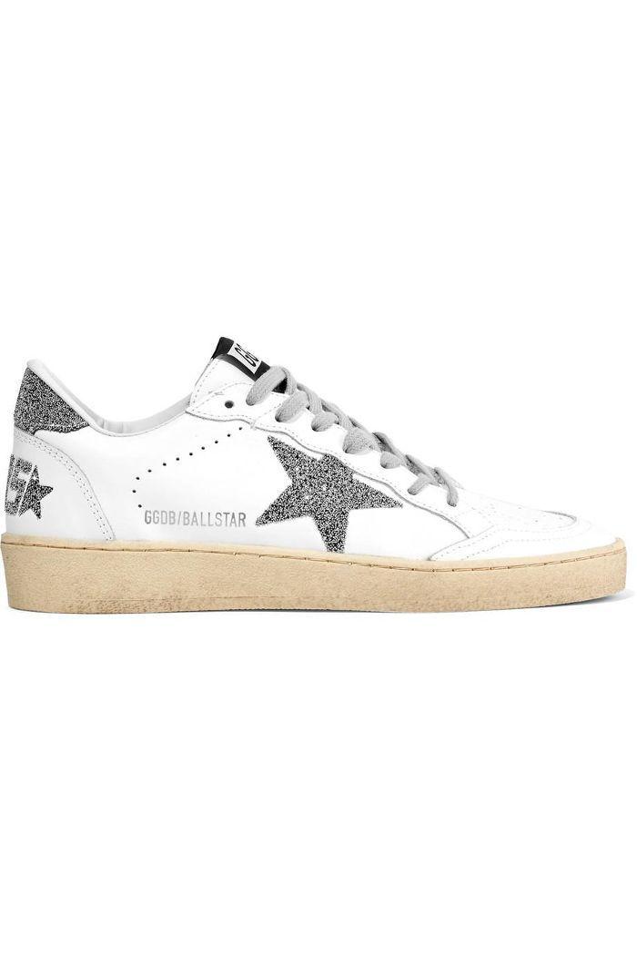 Ball Star Swarovski Crystal-embellished Leather Sneakers