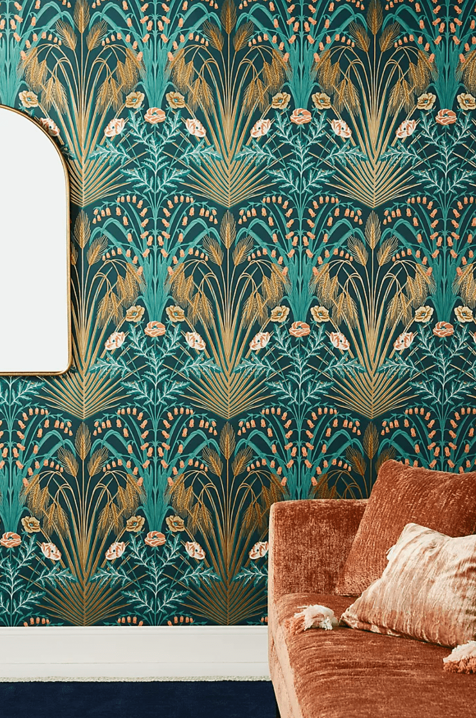 Statement-making floral wallpaper, currently for sale at Anthropologie