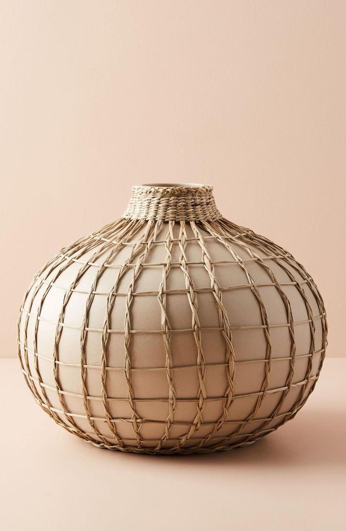 Anthropologie Anthropologie Wrapped Seagrass Vase