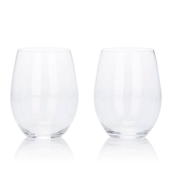 """Juego de vasos de vino de cristal """"O"""""""