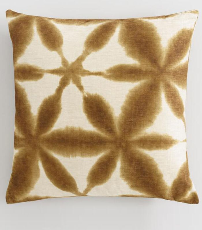 Copper Chenille Abstract Watercolor Throw Pillow: Brown by World Market