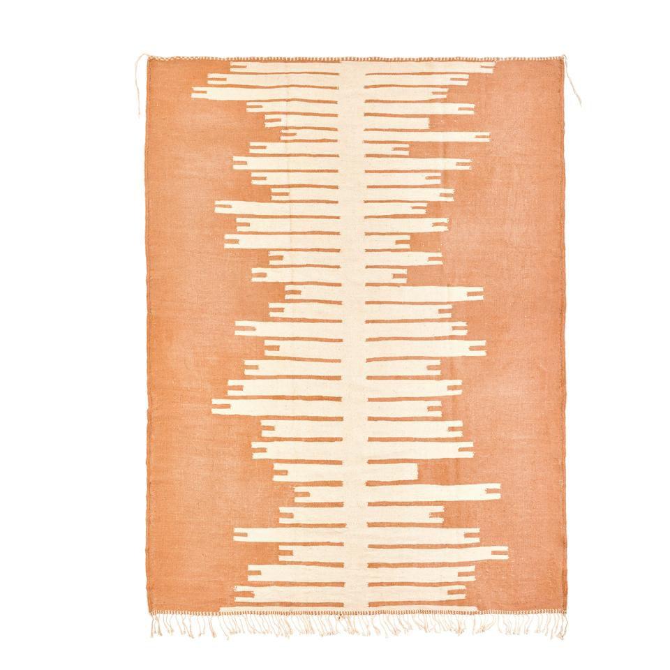 Orange Flat Weave Rug